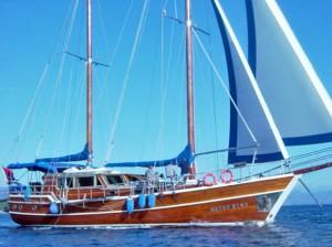 Sailing gulet cruise