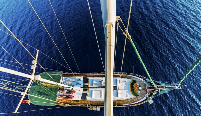 less windy greek islands for gulet cruises