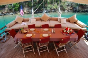 Elara gulet yacht deck (1)
