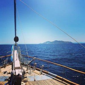 Eolian islands by gulets