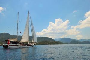 North Greek islands cruise yacht