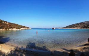 Lipsi island bay North Greek islands cruise Lipsi